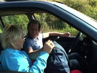 Guy Fucks Uncompromisingly Grey Pretty Good Granny Roadside